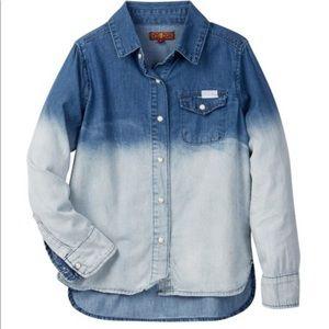 NWT 7 for all mankind girls denim shirt